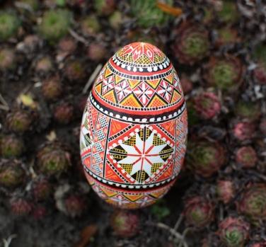 all my children initials on pysanka custom egg by katya trischuk
